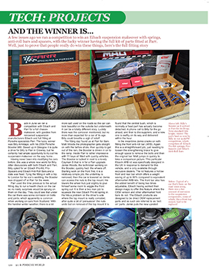 Boxster 986 Chassis Upgrades – 911 & Porsche Worlds October 2015